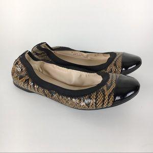 Cole Haan Snakeskin & Black Patent Ballet Flats 6